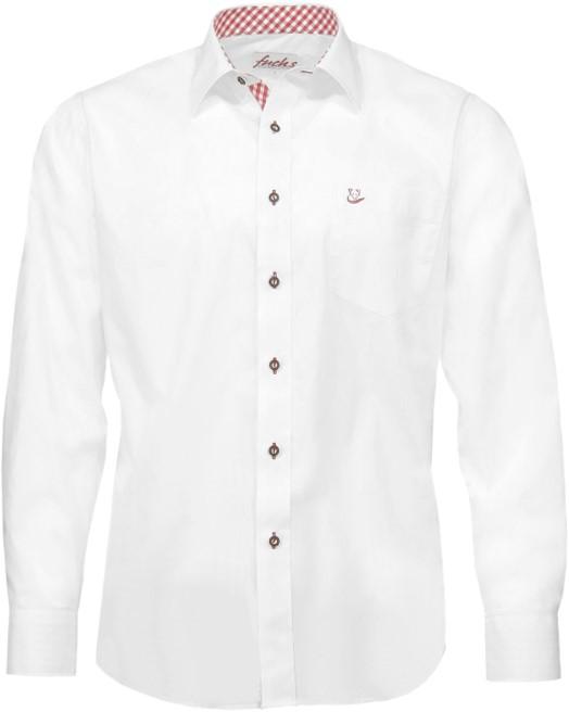 Rode Overhemd.Tiroler Trachten Slimfit Overhemd Witte Rode Blokjes
