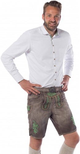 Heren Lederhose Kort Gaudi Groen (Runderleer)