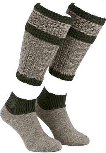 Tiroler Loferl Set inclusief Sokken (Grijs/Groen)