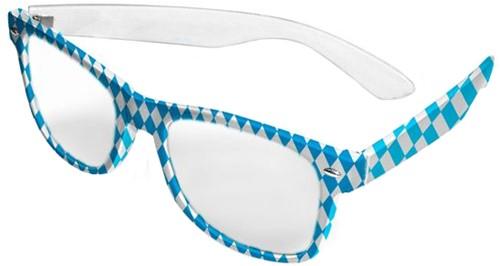 Blauw/Witte Bril Oktoberfest