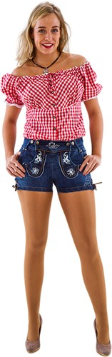 Tiroler Dames Trachten Jeans Kort