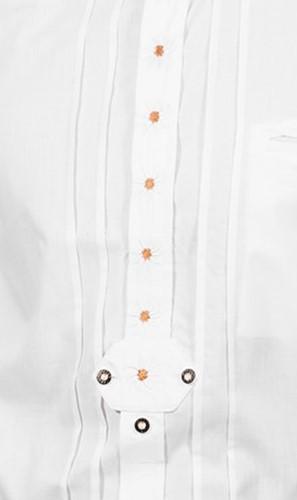Trachtenhemd Wit Edelweiss (100% katoen)  -2