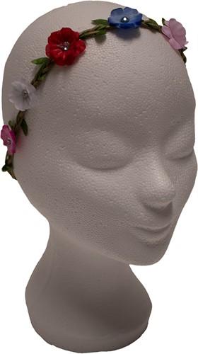 Bloemen Haarbandje met Multi met Strass