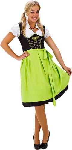 Groen/Zwarte Luxe Dirndl 60cm 3dlg