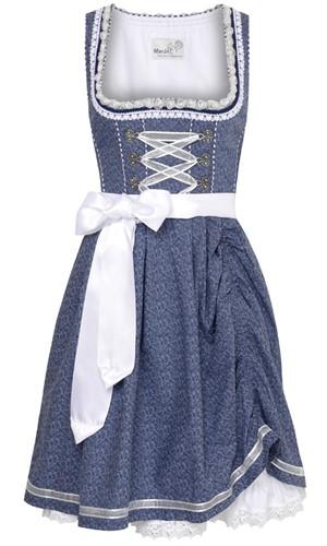 Luxe Dirndl Tamilla Blauw (55cm)