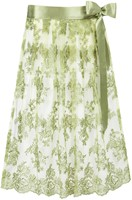 Luxe Trachten Dirndlschort Groen (70cm, tule)