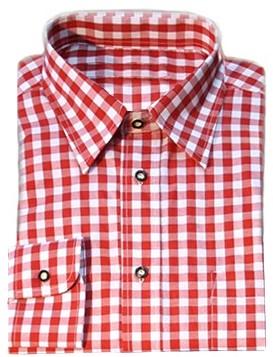 Luxe Rood Tiroler Overhemd (katoen en polyester)
