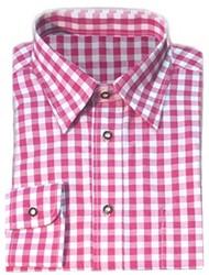 Luxe Pink Tiroler Overhemd (katoen en polyester)
