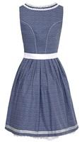 Luxe Dirndl Tamilla Blauw (55cm)-2