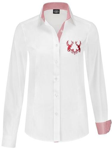 Luxe Trachtenblouse Rood/Wit voor dames