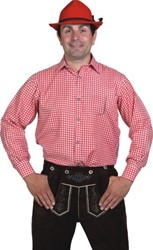 Rood/Wit Geruit Tiroler Overhemd