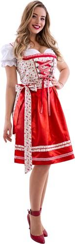 Dirndl Rode Roosjes 60cm Luxe 3dlg.