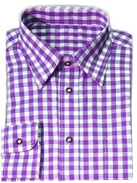 Luxe Paars Tiroler Overhemd (katoen en polyester)