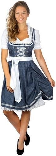 Dirndl Tamilla Blauw Luxe (55cm) -3