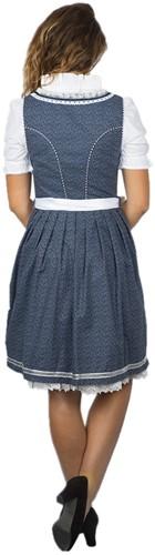 Dirndl Tamilla Blauw Luxe (55cm) (model achterkant)