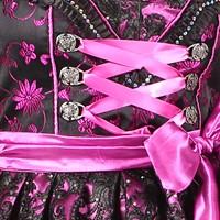 Dirndljurk Viktoria Luxe Zwart/Paars (detail 2)