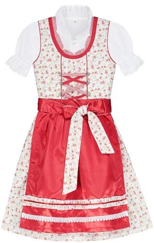 Luxe Dirndl Rode Roosjes voor meisjes