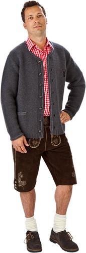 Trachtenvest Grijs Luxe (met mouwen) (100% wol)