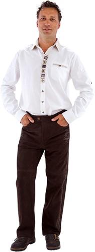 Trachtenhemd Wit Landhaus (katoen/linnen)