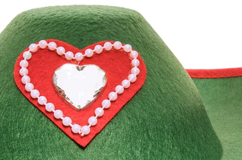 Groene Tiroler Hoed Groen (met vlechten) voor dames-2