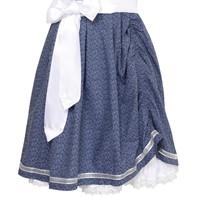Dirndl Tamilla Blauw Luxe (55cm) (detail onderkant)