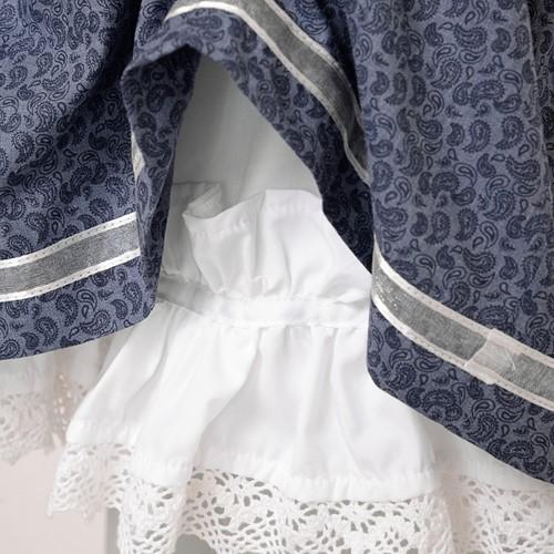 Dirndl Tamilla Blauw Luxe (55cm) (detail stof)