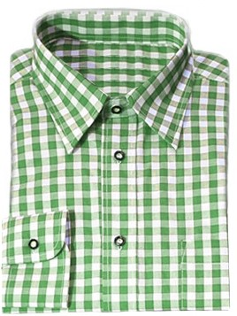 Tiroler Overhemd Groen Luxe (katoen/polyester)