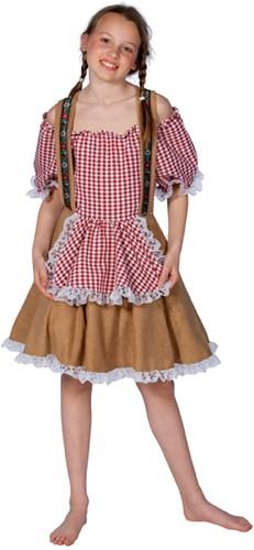 Rood/Wit Tiroler Jurkje voor meisjes