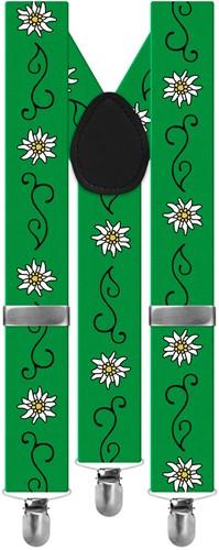 Groene Edelweiss Bretels