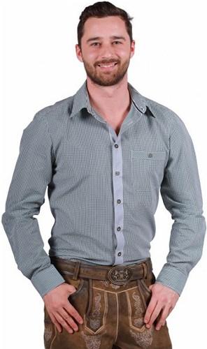 Tiroler Overhemd Markus Groen-Wit