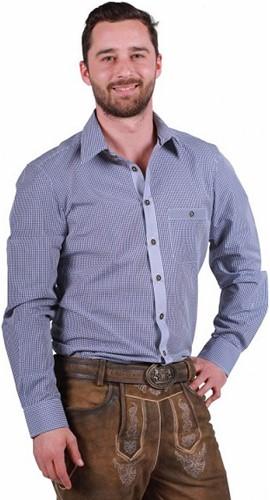 Tiroler Overhemd Markus Blauw-Wit