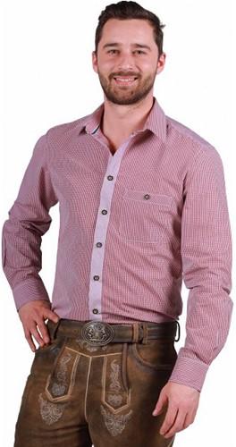 Tiroler Overhemd Markus Wijnrood-Wit