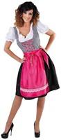 Pink/Zwarte Luxe Dames Dirndl