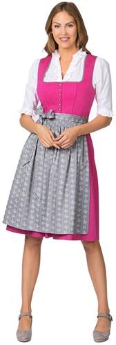 Luxe Dirndl Jeanne Pink-Grijs (65cm) 2dlg.