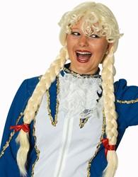 Pruik Heidi met Blonde Vlechten