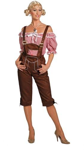 Tirolerhose Luxe Dames Lang Donkerbruin