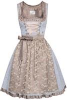 Dirndl Estella Blauw-Koper Luxe (55cm)