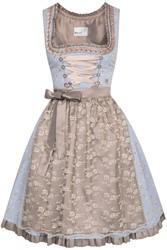 Luxe Dirndl Estella Blauw-Koper (55cm)