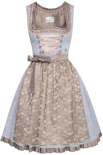 Estella Blauw-Koper Luxe Dirndl (55cm)