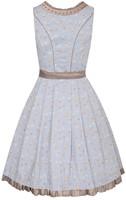 Dirndl Estella Blauw-Koper Luxe (55cm) -2