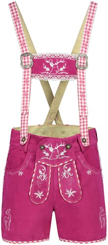 Lederhose voor Dames Suede Pink