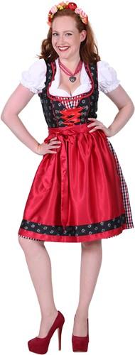 Dirndl Zwart/Rood Sarah