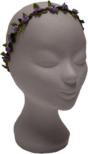 Bloemen Haarbandje Paars Satijn
