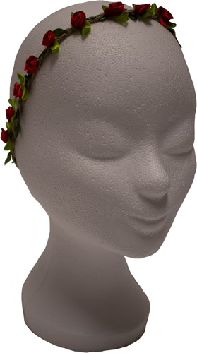 Bloemen Haarbandje Rood Satijn