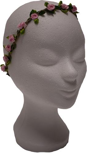 Bloemen Haarbandje Roze Satijn