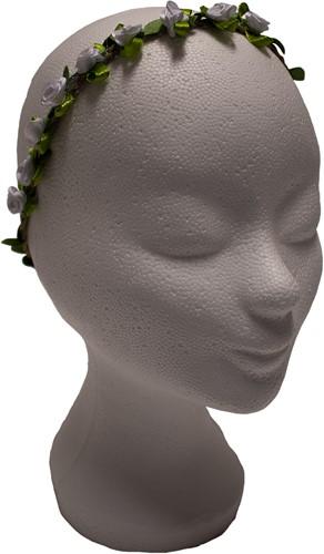 Bloemen Haarbandje Wit Satijn