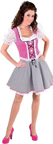 Dirndl Nicky Velours Pink