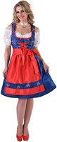 Dirndl Blauw/Rood Edelweiss Luxe