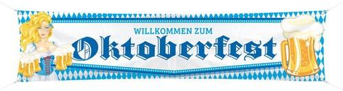Spandoek Oktoberfest Bierpullen (180x40cm)