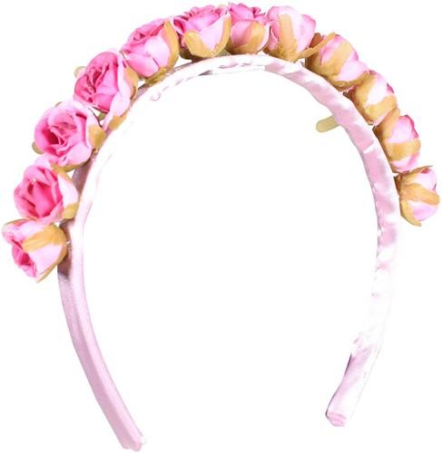 Haarband Bloemen Roze Luxe
